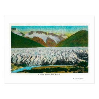Vue de glacier de Spencer, près de Seward, Cartes Postales