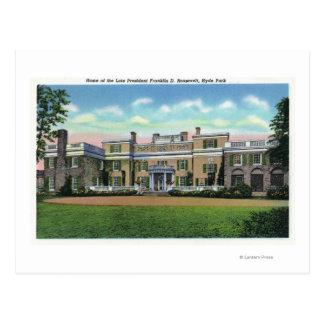 Vue de Hyde Park de manoir de président FDR'S Carte Postale