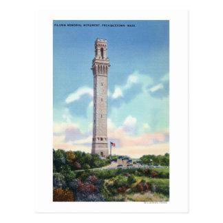 Vue de jour de mémorial de pèlerin carte postale