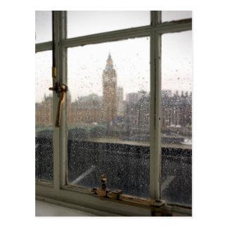 Vue de jour pluvieux sur Big Ben - la carte