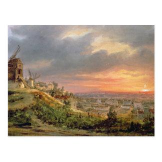 Vue de la butte Montmartre, c.1830 Carte Postale