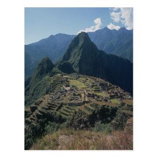 Vue de la citadelle chez Machu Picchu Carte Postale