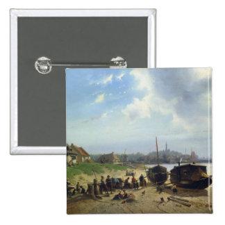 Vue de la côte néerlandaise badge