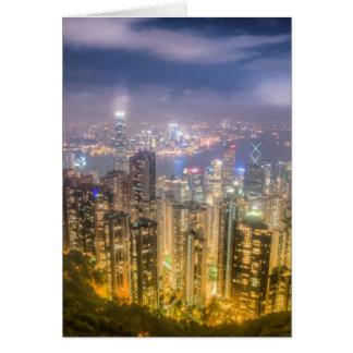 Vue de la crête, Hong Kong Carte De Vœux