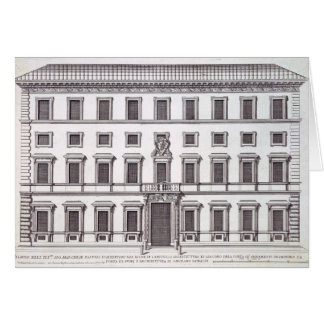Vue de la façade de Palazzo Marchese, Rome, desi Carte De Vœux