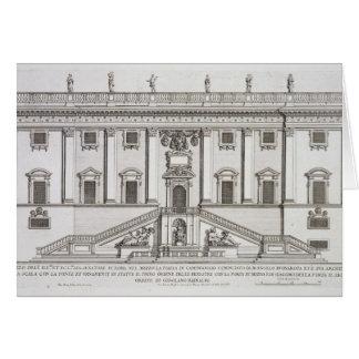 Vue de la façade de Palazzo Senatorio dans Piazza Cartes