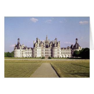 Cartes de voeux chateau chambord personnalisees zazzlefr for Une vue de la faaade ouest
