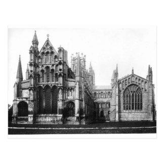 Vue de la façade est et du choeur, c.1321-40 cartes postales