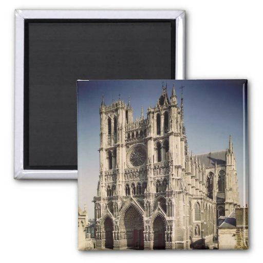 Vue de la façade occidentale, c.1220-70 magnets pour réfrigérateur