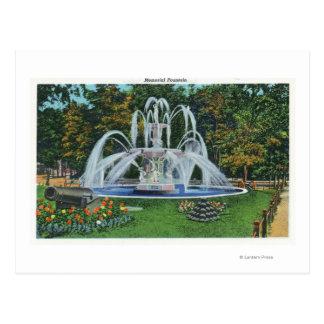 Vue de la fontaine commémorative, université de carte postale