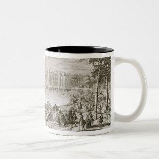 Vue de la fontaine de Neptune, Versailles (engra Tasse 2 Couleurs