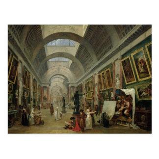 Vue de la galerie grande du Louvre, 1796 Cartes Postales