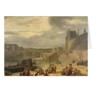 Vue de la galerie grande du Louvre Carte De Vœux