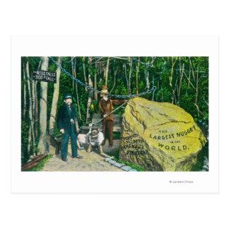 Vue de la plus grande pépite d'or dans le monde carte postale
