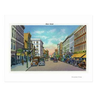 Vue de la rue principale 4 carte postale