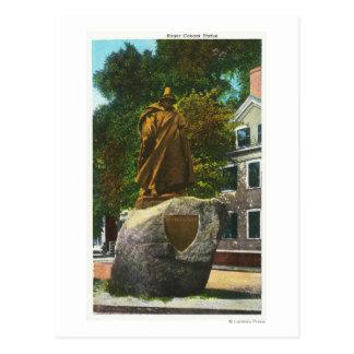 Vue de la statue de Roger Conant Carte Postale