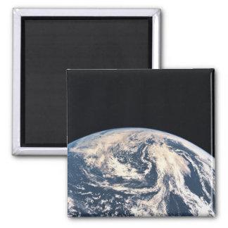Vue de la surface terrestre magnet carré