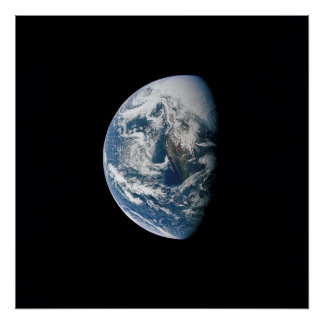 Vue de la terre d Apollo 13 Posters