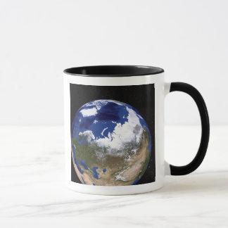 Vue de la terre montrant la région arctique mug
