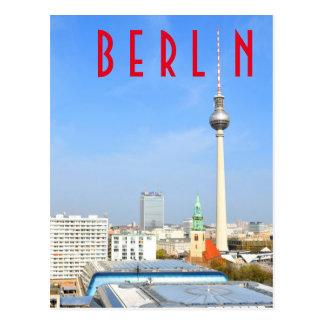 Vue de la tour de télévision à Berlin, Allemagne Cartes Postales
