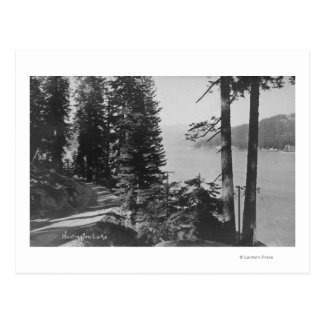 Vue de lac huntington, la Californie de route Carte Postale