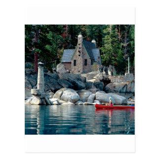 Vue de lac voyant en le canoë Tahoe Carte Postale
