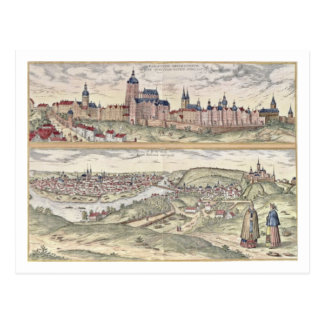 Vue de l'apparence de Prague (ci-dessus) le palais Carte Postale
