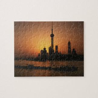Vue de l'ASIE, Chine, Changhaï de la perle orienta Puzzle
