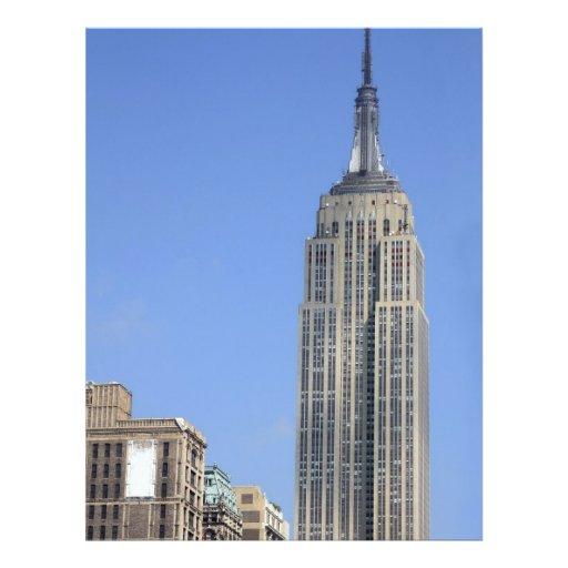 Vue de l'Empire State Building Prospectus 21,6 Cm X 24,94 Cm