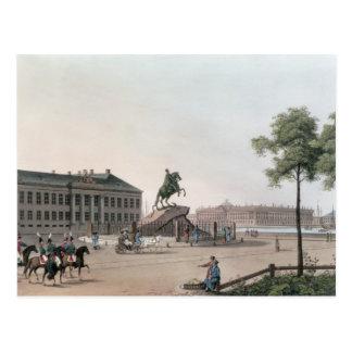 Vue de l'endroit de Peter le grand et le Senat Carte Postale
