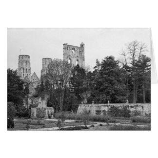 Vue de l'extérieur d'église, c.1052-67 carte de vœux