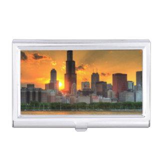 Vue de l'horizon de Chicago d'Adler Porte-cartes De Visite