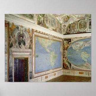 Vue de l'intérieur du 'Sala Del Poster