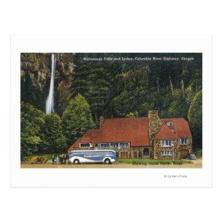 Vue de loge d'automnes de Multnomah Carte Postale