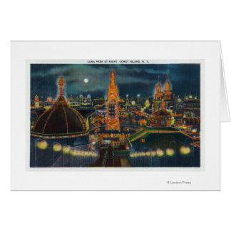 Vue de Luna Park la nuit Carte De Vœux