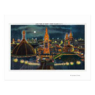 Vue de Luna Park la nuit Carte Postale