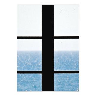 Vue de mer carton d'invitation  12,7 cm x 17,78 cm