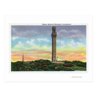Vue de monument de mémorial de pèlerin de cartes postales