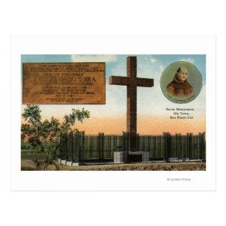 Vue de monument de Serra, vieille ville San Diego Carte Postale