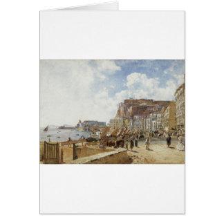 Vue de Naples par Rudolf von Alt Carte De Vœux