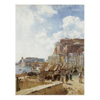 Vue de Naples par Rudolf von Alt Cartes Postales