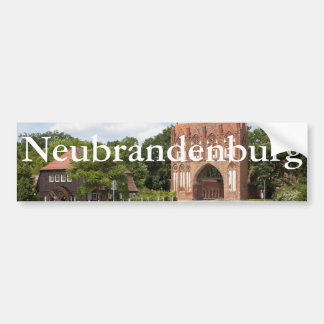 Vue de Neubrandenbourg Autocollant Pour Voiture