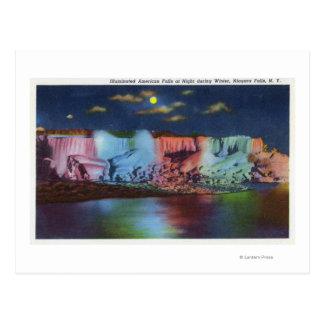 Vue de nuit d'île de Luna de nouveau pont en Carte Postale