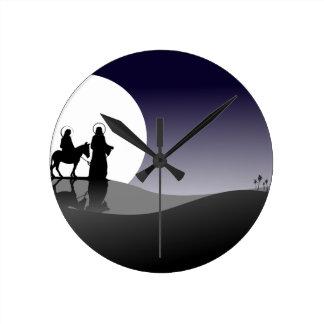 Vue de nuit horloge ronde