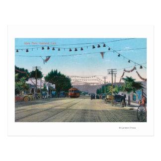 Vue de parc d'Idora de StreetOakland, CA Cartes Postales