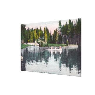 Vue de parc d'Olympia de l'étang, scène de bateau  Toiles