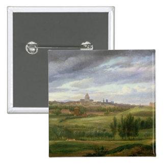 Vue de Paris de butte Cailles aux., Gentilly Badge Carré 5 Cm