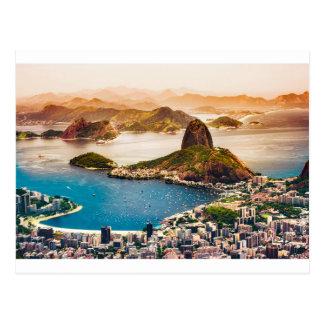 Vue de paysage urbain de Rio de Janeiro Cartes Postales