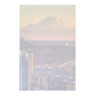 Vue de paysage urbain de Seattle du centre, le foo Papier À Lettre