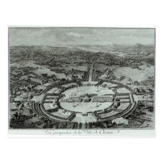 Vue de perspective de la ville de Chaux, C. 1804 Carte Postale